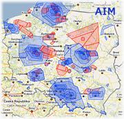 AIM mapa rezerwacji przestrzeni powietrznej